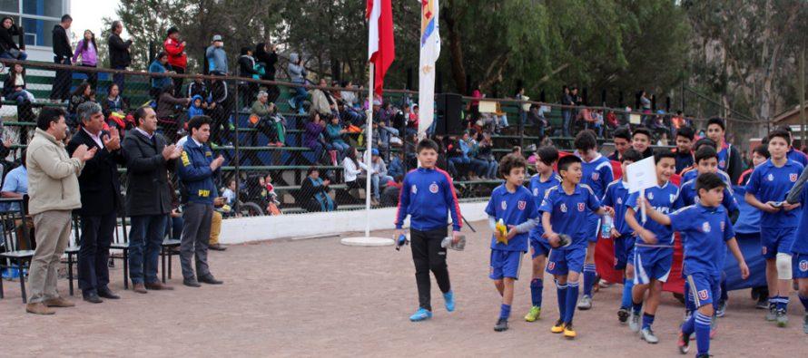 Vicuñense juega desde 2015 en la Sub 10 de Universidad de Chile