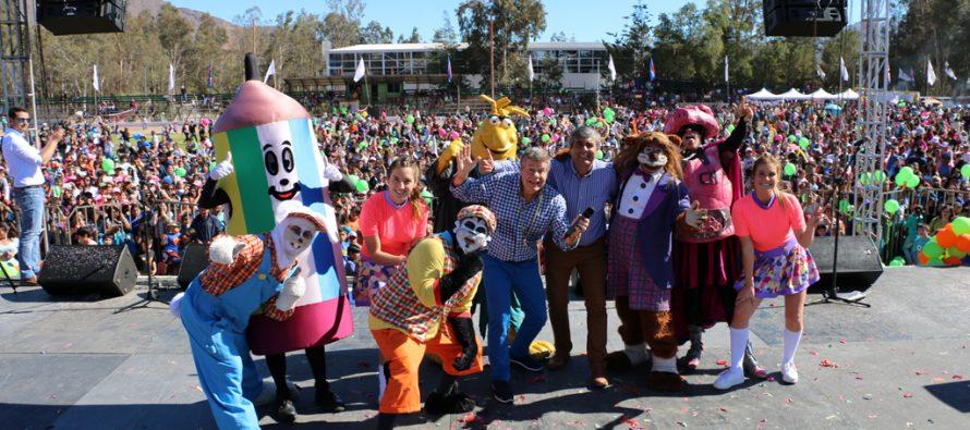 Más de 10 mil personas disfrutaron del show de Cachureos en el Día del Niño de Vicuña