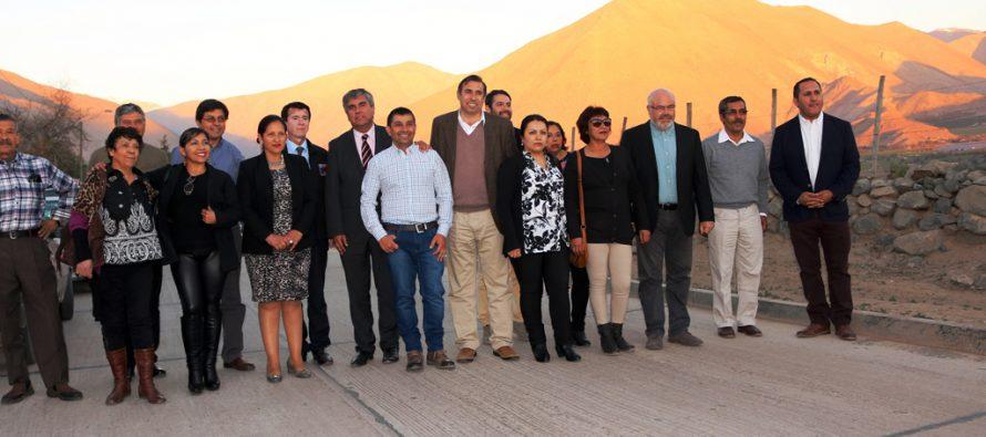 Inauguran 12 kilómetros pavimentados en localidad de Calingasta