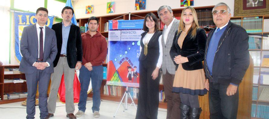 Vicuña: Realizan charlas de educación previsional a los estudiantes de liceos técnicos
