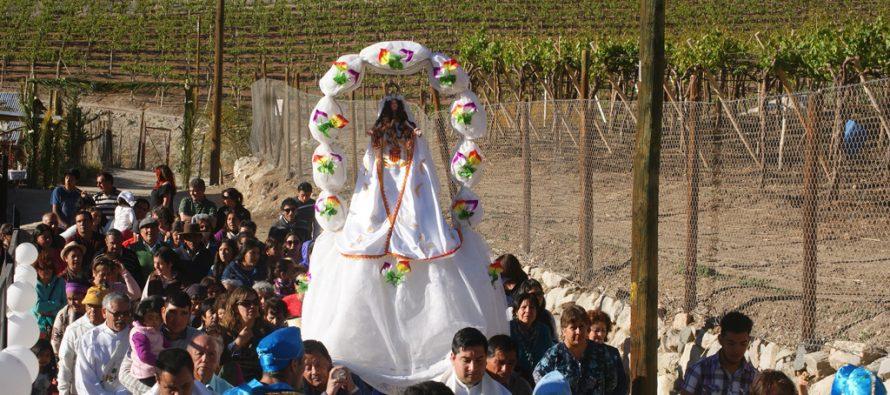 Gran multitud de Feligreses participaron en   Fiesta Religiosa de Quebrada de Paihuano
