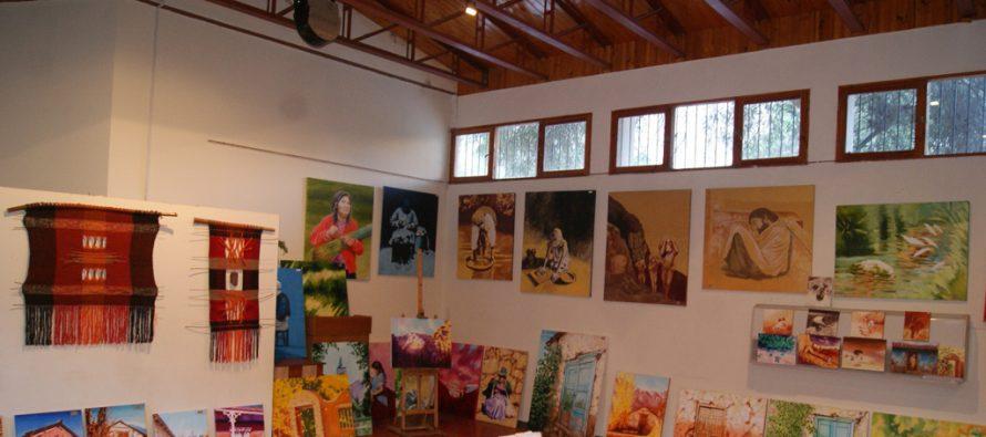Exhiben  exposición de pinturas en salón de conferencias Francisco Varela de Montegrande