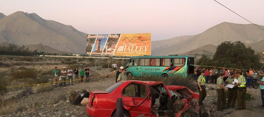 Lamentable accidente en Vicuña deja a tres personas fallecidas