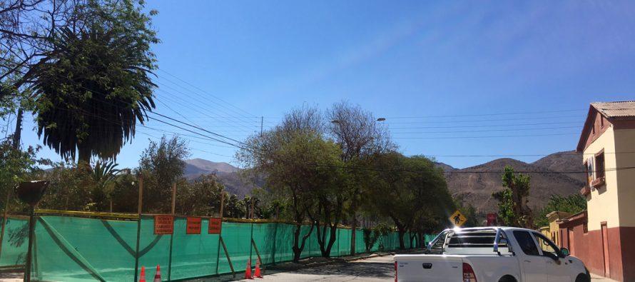 Anuncian modificación vial por trabajos para renovar colector de aguas servidas de Vicuña