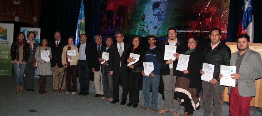 Gobierno Regional realiza masiva entrega de fondos concursables a gestores de Elqui