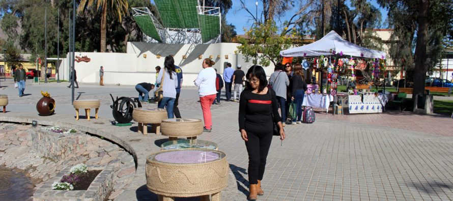 """Mujeres de Vicuña dan a conocer sus emprendimientos en la """"Plaza de Color"""""""
