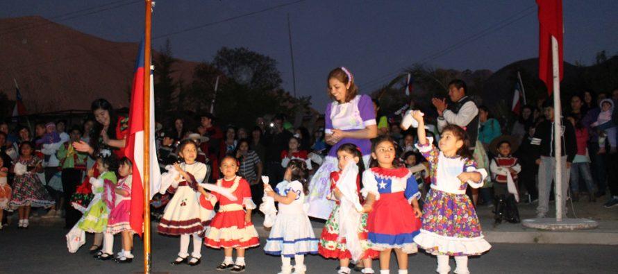 En Villaseca comenzaron los actos y desfiles de Fiestas Patrias en la comuna de Vicuña