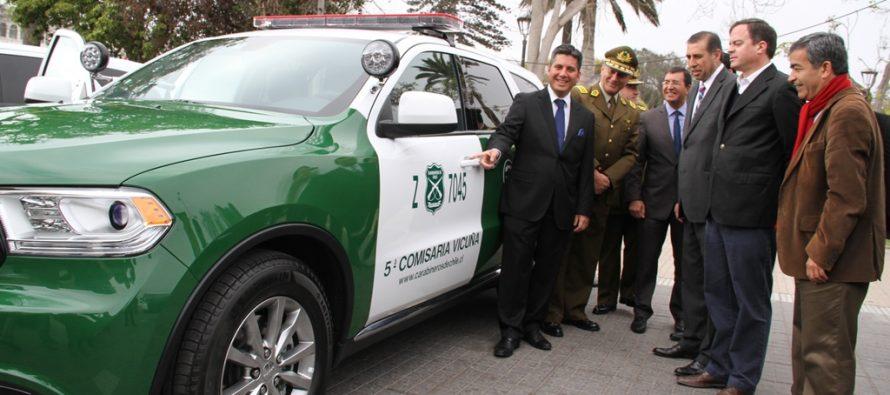 Entregan nuevos vehículos policiales para Carabineros del Elqui