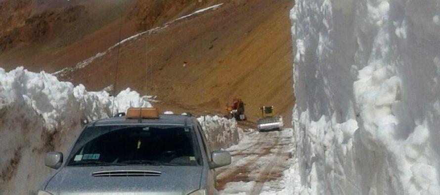 Ruta del Paso Internacional Agua Negra tiene bancos de nieve de hasta 10 metros de altura