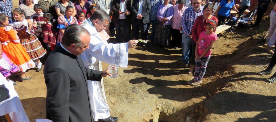 """En pueblo La Estrella Bendicen primera piedra de capilla dedicada a la """"Divina Misericordia"""""""