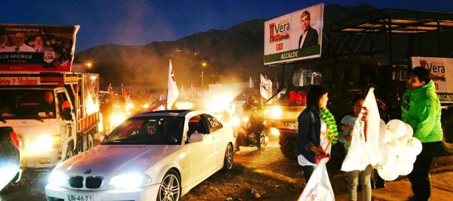 Multitudinaria caravana cerró la candidatura a la reelección como alcalde de Rafael Vera