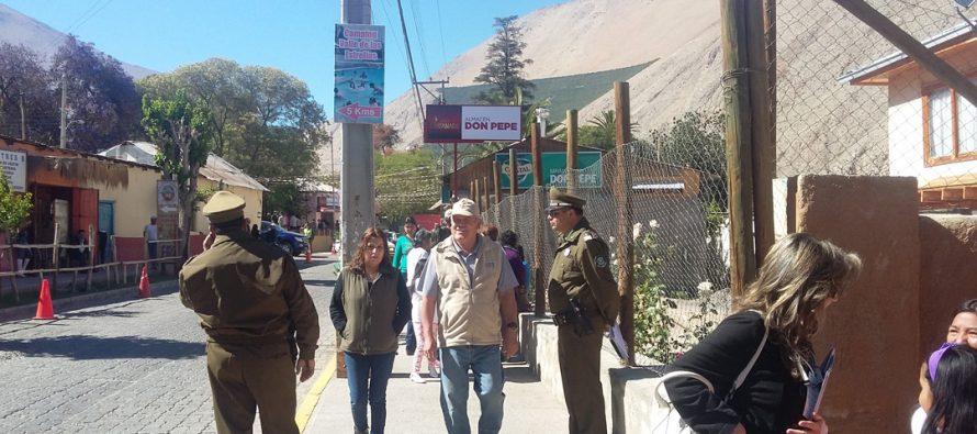 Carabineros  evaluó como positivo el proceso eleccionario en Paihuano
