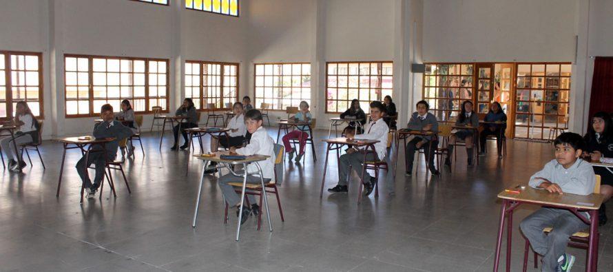 19 alumnos de 5to y 6to básico de paihuano rinden examen internacional de inglés