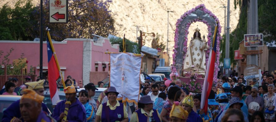 Fiesta de la Virgen del Rosario de Pisco Elqui congregó a un centenar de fieles devotos