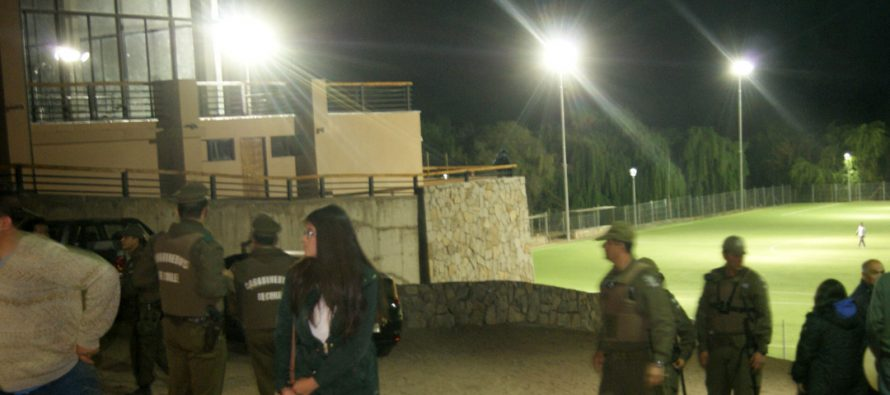 Fuerte despliegue policial en final de campeonato de Fútbol ANFUR en Pisco Elqui