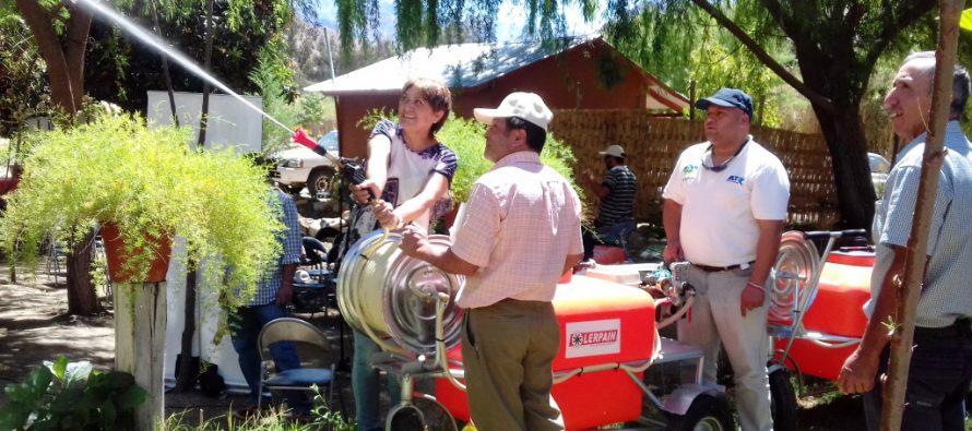 Pequeños agricultores de Paihuano reducirán tiempos de trabajo con nueva maquinaria