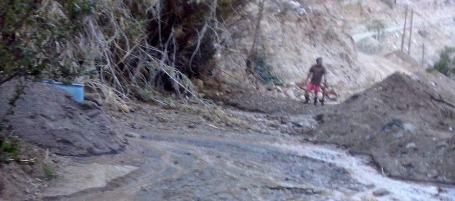 Vecina de Quebrada de Pinto interpone demanda en Fiscalía por desborde del canal