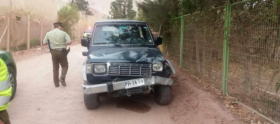 Accidente de tránsito deja sin energía eléctrica a gran parte de la comuna de Paihuano