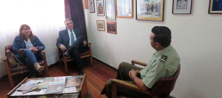 Alcalde de Paihuano se reunió con Mayor de Carabineros de Vicuña para analizar Programa 24 horas