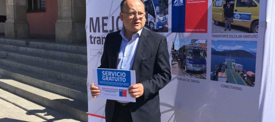 Ministerio de Transportes e Intendencias proveerán locomoción gratuita en zonas rurales