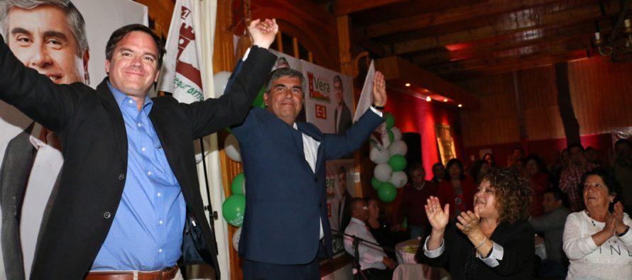 Dirigentes y autoridades respaldan reelección del candidato a alcalde Rafael Vera