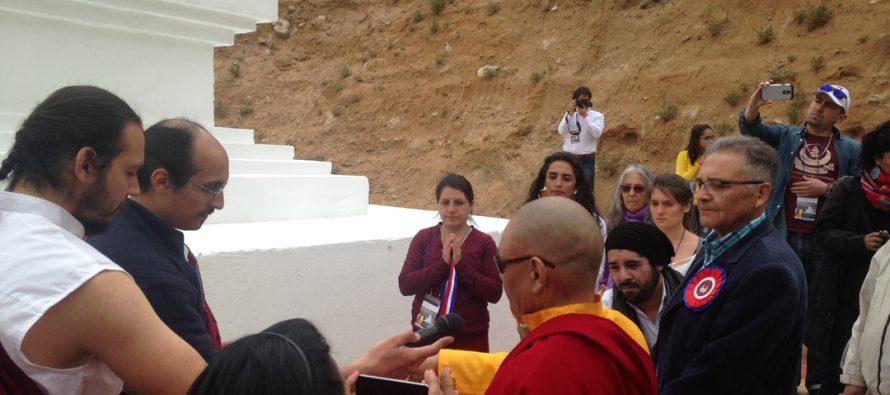 Inauguran estupa de la iluminación en Cochiguaz