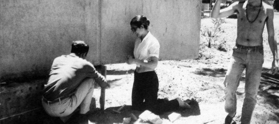 Trabajos plaza Gabriela Mistral 1971