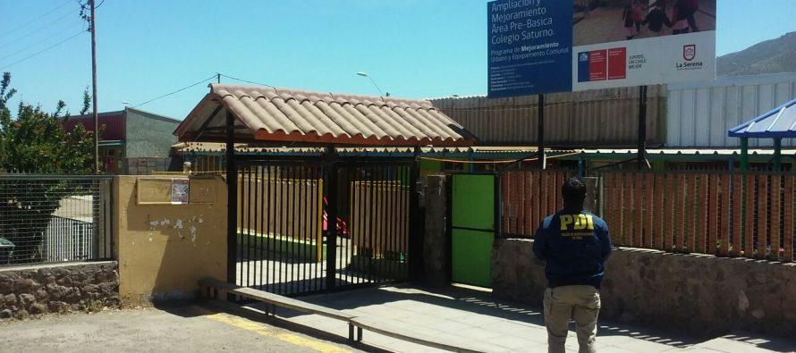 PDI investiga robo ocurrido en la Escuela Saturno de la localidad de Gabriela Mistral