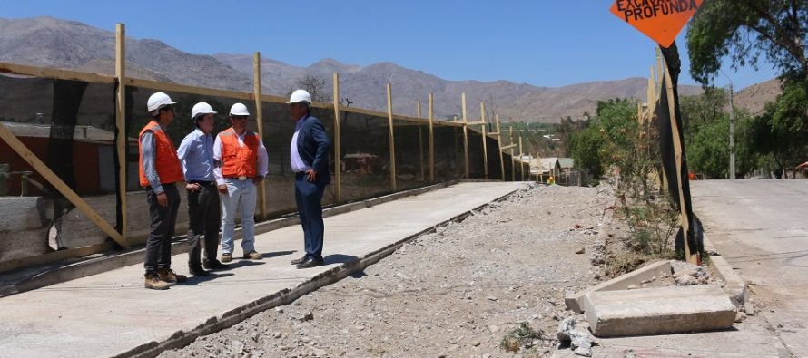 Avanza construcción de colector de aguas lluvia en Vicuña
