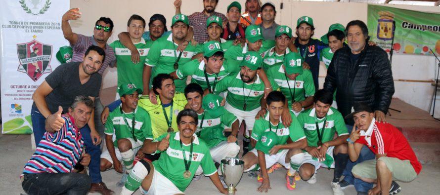 Unión Esperanza levantó la copa de campeón del Torneo de Fútbol Rural de Primavera