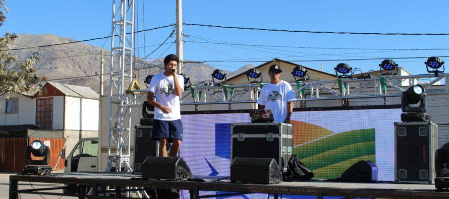 """Jóvenes de Vicuña y la región participaron de """"Encuentro Provincial de Rap y Hip Hop"""""""