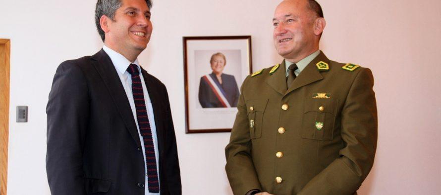 Intendente Ibáñez recibe a nuevo General  Jefe de Cuarta Zona de Carabineros