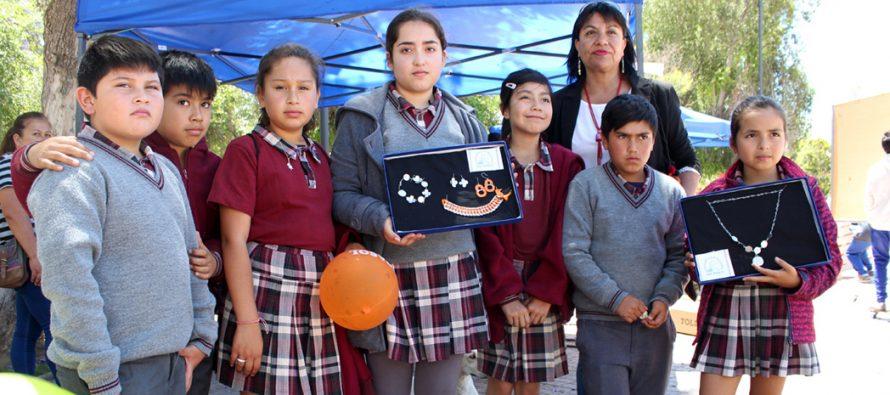 Escuelas de toda la comuna participaron con entusiasmo en la II Feria Escolar de Reciclaje
