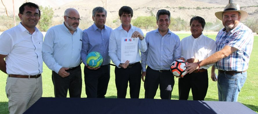 Vecinos de Vicuña contarán con nuevo estadio el 2018