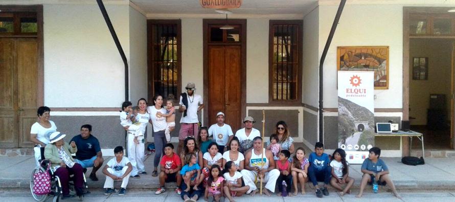 Corporación Pedaleable desarrolla taller de Capoeira en Gualliguaica