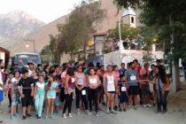 Realizan la primera corrida familiar nocturna en Paihuano