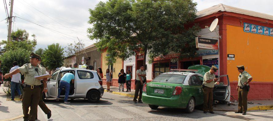Accidente en Vicuña involucra a vehículo policial  y persona que rendía examen de licencia de conducir