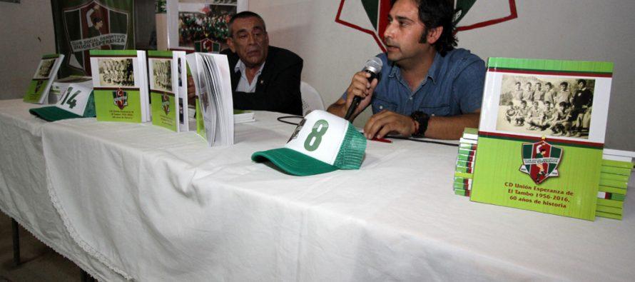 Periodista de Vicuña presenta libro sobre la historia del club Unión Esperanza de El Tambo
