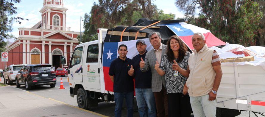 Vicuña entrega su ayuda a los afectados por el incendio en San Javier