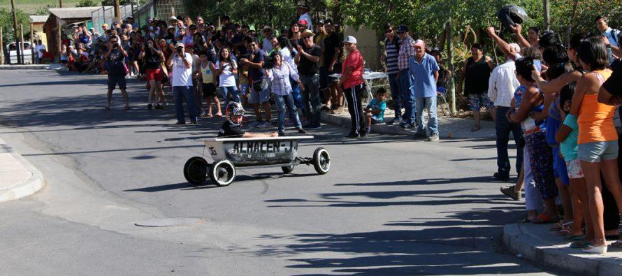 A Paihuano se fue el primer lugar de la 3ra carrera de autos locos realizada en Villaseca