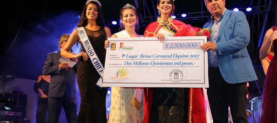 Karina Pérez Gres es la nueva reina del Carnaval Elquino de Vicuña