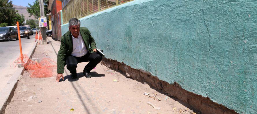 Municipio buscará la forma de rescatar veredas encontradas del siglo XIX en Vicuña