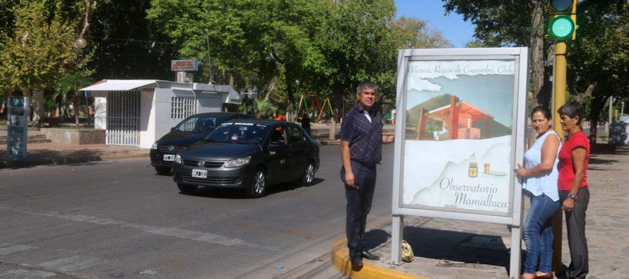 Vicuña se sigue potenciando turísticamente a través de renovación publicitaria en San Juan
