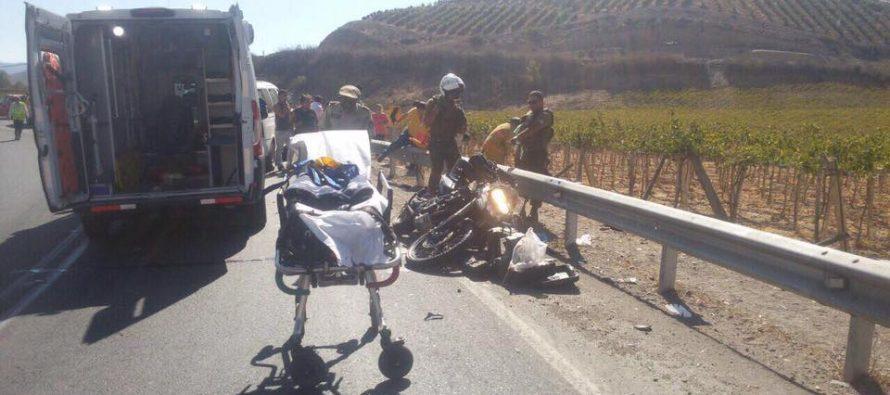 Motociclista argentino fallece en la ruta 41CH sector Diaguitas de la comuna de Vicuña