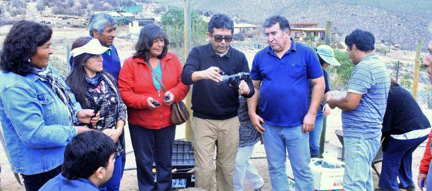 Agricultores de La Serena conocen tecnología internacional con la que podrán optimizar el uso del agua