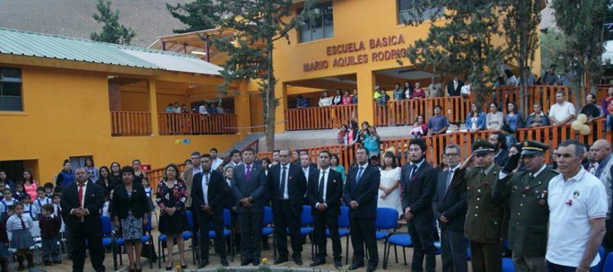 Inauguran nueva escuela en la localidad de Horcón con inversión que supera los 460 millones de pesos