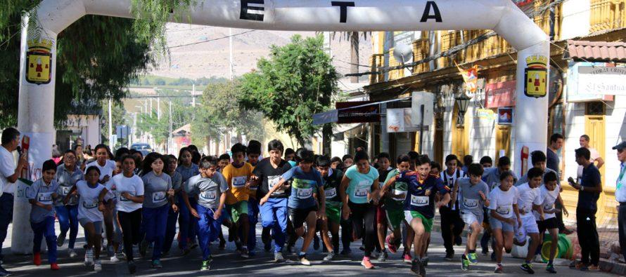 Niños y niñas participaron en la conmemoración del Día Internacional del Deporte en Vicuña