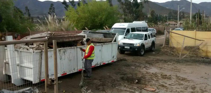 Despliegan acciones en distintos sectores de La Serena para reparar los daños del temporal