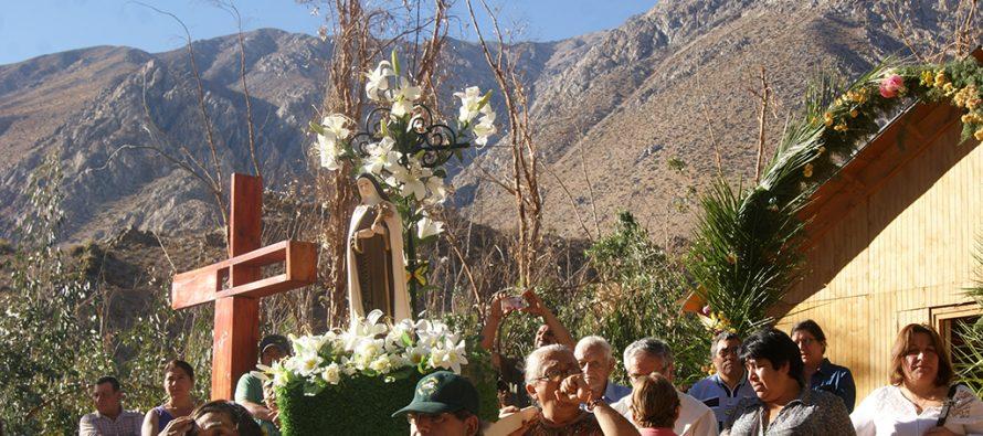 Cochiguaz vivió su fiesta religiosa en honor a Santa Teresa de Los Andes