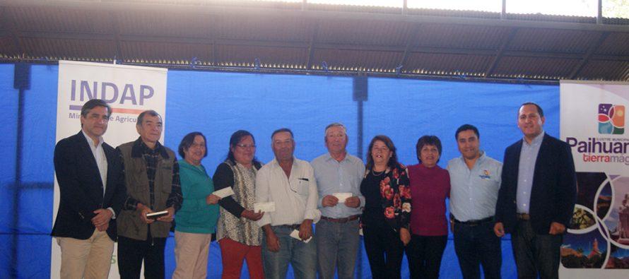 Agricultores de Paihuano son beneficiados con recursos de INDAP